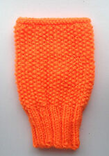 Fingerless Gloves Wrist Warmers  DK  Hand Knitted Fluorescent Orange Halloween