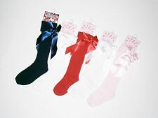 BABY AND GIRLS KNEE HIGH SOCKS BOWS FLOWERS,POM POM & TURNOVER ANKLE TO 6 YEARS