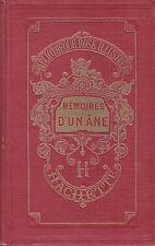 """Enfants Livre Ancien """" Mémoires d'un Âne """" Bibliothèque Rose ( 2309 ) Book"""