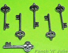 Tiny clés argent-Lock keyhole Amour Mariage Robe Vintage il charmes en plastique