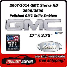 2007-2014 GMC Sierra 3500 Polished Aluminum GMC Front Grille Emblem AMI 96501P