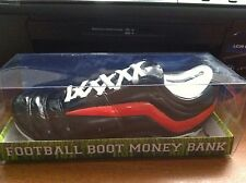 FOOTBALL BOOT  MONEY BOX BANK ESSENDON  / ST KILDA COLOURS BRAND NEW