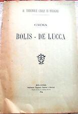 1894 CAUSA ILDEBRANDO BOLIS - MARCHESA DE LUCCA PER MOBILI A BOLOGNA