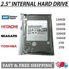 """Laptop 2.5"""" SATA Hard Drive 120GB 160GB 200GB 250GB 320GB 500GB 1TB Internal HDD"""