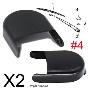 x2 Front Windshield Wiper Arm Nut Head Bolt Cap Cover For Chevrolet GMC