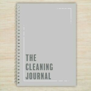 The Cleaning Journal Daily Planner Organiser Diary Notebook Lists A5 FREEPOST