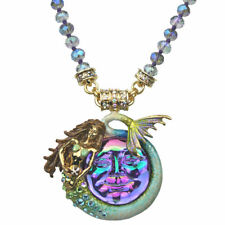 KIRKS FOLLY MARINA MERMAID SEAVIEW WATER MOON MAGNETIC NECKLACE Violet / GT