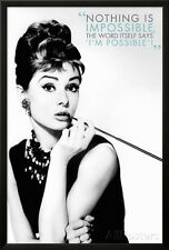 Audrey Hepburn Quote Lamina Framed Poster Print - 26x38