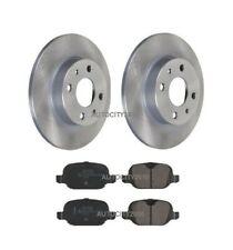 Brake Discs Axle Set 240mm Solid Fits Fiat 500 1.2 1.2 LPG Front Brake Pads