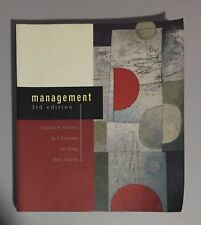 Management 3rd edition Stephen P Robbins Roll Begman Ian Stagg Textbook Book