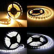 1-10M LED Strip Stripe Streifen Leiste Lichterkette Rolle 60/M Warmweiß Weiß5630
