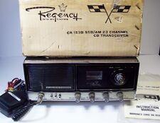 Vtg Regency CR-123B SSB AM CB Radio Transceiver Base Station w/ Mic + Manual