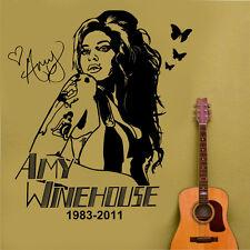 Amy winehouse wall art sticker/autocollant large 67cm x 76cm