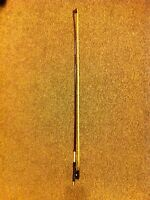 Beautiful antique bow for the professional .4 /4.New hair.72cm. Frog with silver