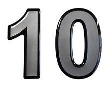 3D Aufkleber Hotelzimmer Briefkasten Hausnummer 900063 in Silber 1x Nummer 10
