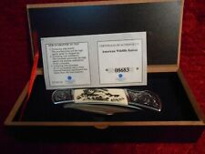 AMERICAN WILDLIFE SERIES BASS FOLDING KNIFE AMERICAN MINT/FALKNER MINT NEW KN01
