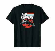 Foo Fighters Fighter Jet Black T-Shirts Gift Tee size M-3XL US Men's Shirt Trend