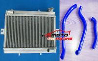Aluminum Radiator & Blue hose For Honda TRX250 TRX250R TRX 250R 1987 87 1986 86