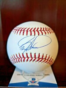Barry Larkin Signed Autographed Major League Baseball BAS COA Reds HOF Auto