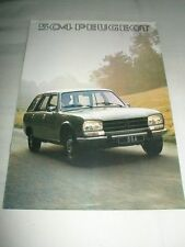 Peugeot 504 range brochure 1977