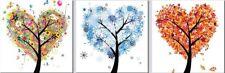 'Alberi dell''amore quadro - Stampa d''arte su tela telaio in legno'
