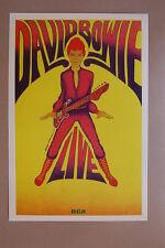 David Bowie Concert Tour Poster 1972 LIVE