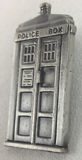 DOCTOR WHO BBC TV Series - TARDIS - Pewter-Style - Imported Lapel Tie Pin