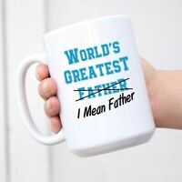 World's Greatest Farter I Mean Father Coffee Mug Funny Christmas Gift for Dad