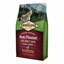 Carnilove Grain Free Adult Duck & Pheasant Hairball Control Dry Cat Food 2kg