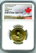 2019 CANADA $1 EVERLASTING ICONS LOON NGC MS68 FIRST RELEASES LOONIE - EX RARE