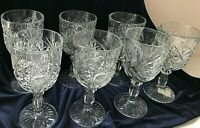 Clear Water Goblets - Hobstar by Libbey - set of 7 - 2001-2009