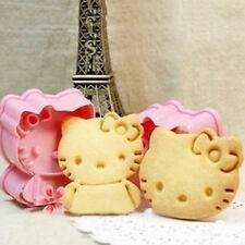 2pcs Hello Kitty Cartoon Fondant Cake Cookie Mold Baking Accessories Cake Tool