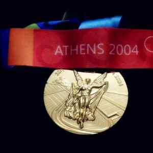 Goldmedaille Olympia Olympische Spiele Athen 2004 Olympia Medaille Olympiade