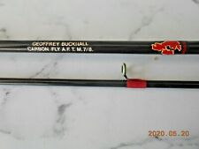GEOFFREY BUCKNAL CARBON FLY ROD 2PCE 9.50FT CARBON ROD LINE 7/8 MADE IN GB