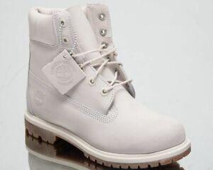 Timberland 6 Inch Premium Waterproof Boots Women's Light Bone Lifestyle Shoes