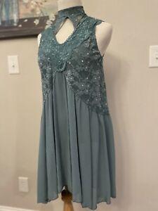 Green/Teal Weissman Adult Medium Lyrical Dress