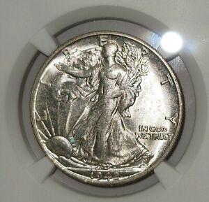1942 S 50C Walking Liberty, NGC MS62