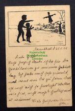 132423 AK Rosenthal Strasburg Uckermark 1919 Schattenbildkarte