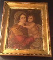 Old Master Painting 17thC Madonna and child Giovanni Battista SALVI (1609-1685)