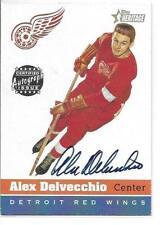 00-01 Topps Heritage Alex Delvecchio Auto Autograph Card