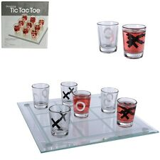 Verre-potable Jeu Fête Jeu Fête Jeu binge tic tac toe avec 9 verres 22x22cm