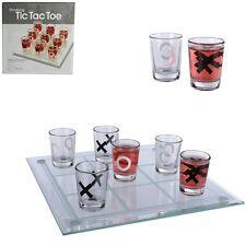 Glas-Trinkspiel Partyspiel Feierspiel Drinking Tic Tac Toe mit 9 Gläsern 22x22cm