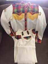 Antique 1930's Rodeo Ben Western Parade 3pc Matching Suit Shirt, Pants & Jacket