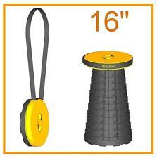 "Unpadded 16"" (41cm) portable Mini-Max stool (Safrut). Folding seat. Travel chair"