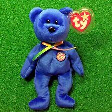 Incredible WHITE STAR Ty Beanie Baby CLUBBY I (03) BBOC Bear 1998 Retired - MWMT