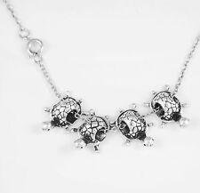 Turtle necklace turtle chain necklace tortoise necklace 4 turtles necklace gift