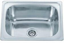 Big Inset Stainless Steel Single Bowl Kitchen Sink & Waste Kit (A28 Stirling)