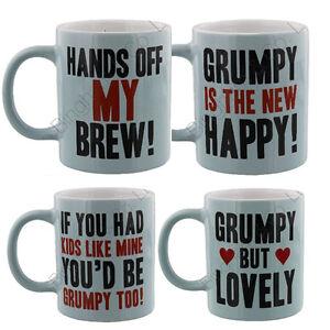 GRUMPY OLD GIT TEA MUG COFFEE NOVELTY MUGS GIFT SET HOME CHINA KITCHEN NEW BREW