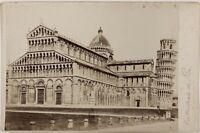 Pisa Cattedrale Italia Foto PL17c1n15 Cartolina Armadio Vintage Albumina