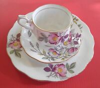 "Royal Albert ""Dog Rose"" Vintage Collectible Trio Set/Tea Cup/Saucer/Plate"